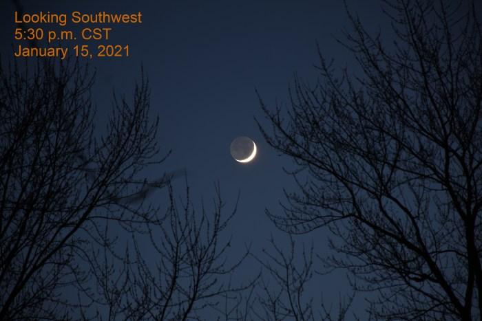 The moon, January 15, 2021