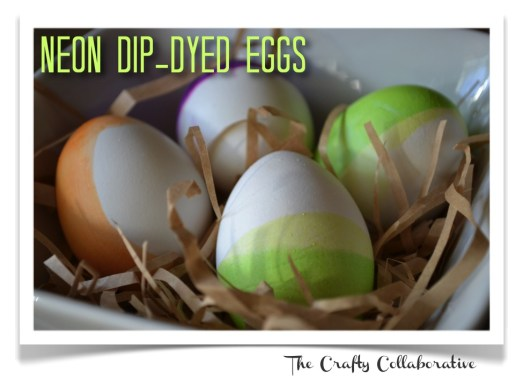 Neon Dip-Dyed Eggs