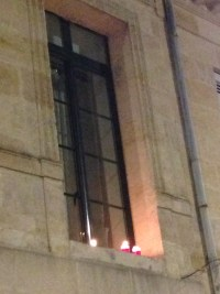 candles in the windows