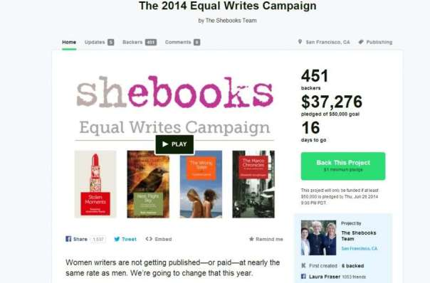 Support women writers with Shebooks campaign