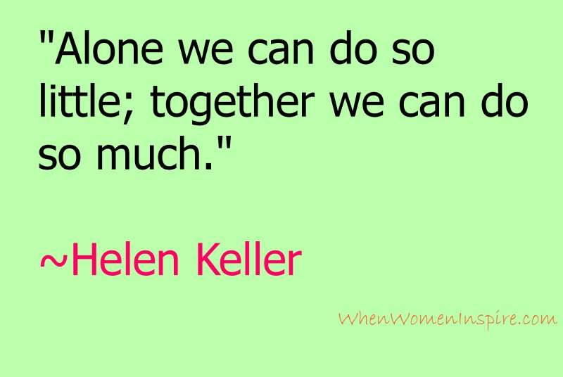Quote from Helen Keller, an inspiring person