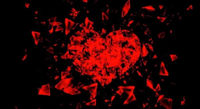 Broken heart while reading