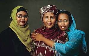Iman assists helping Somali women