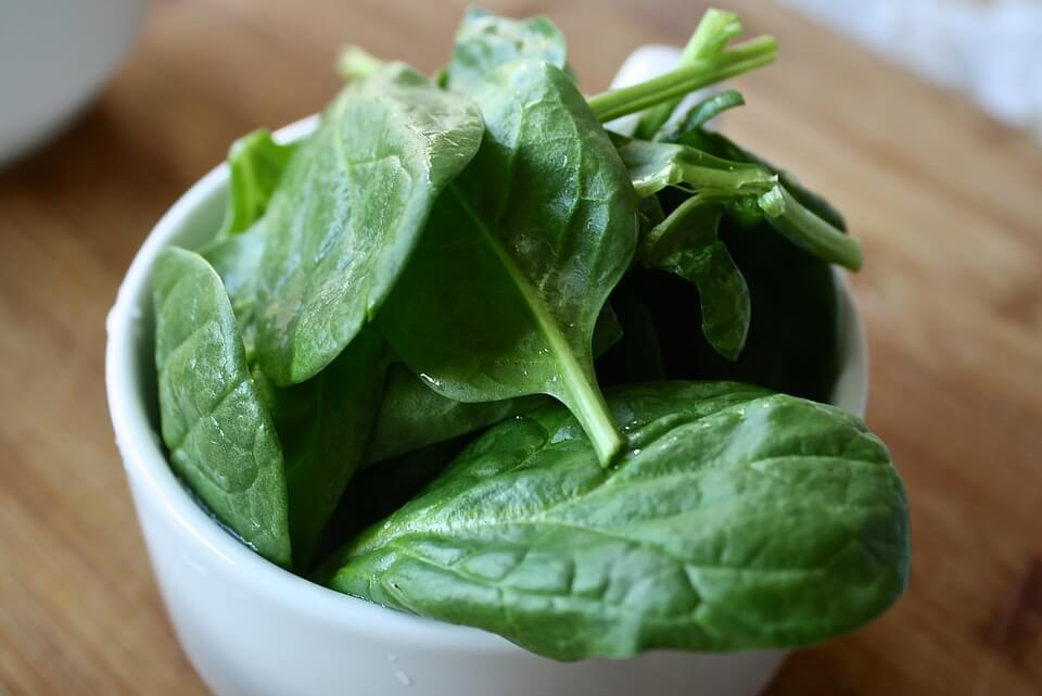 Spinach is part of a healthy eating plan