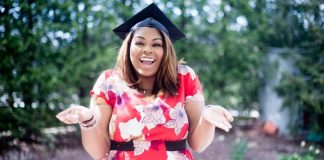 Woman graduating from college