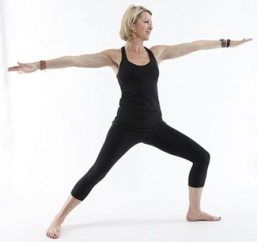 Woman in Yoga Warrior Pose