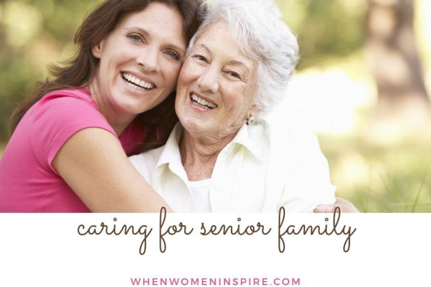 Elderly family members care tips