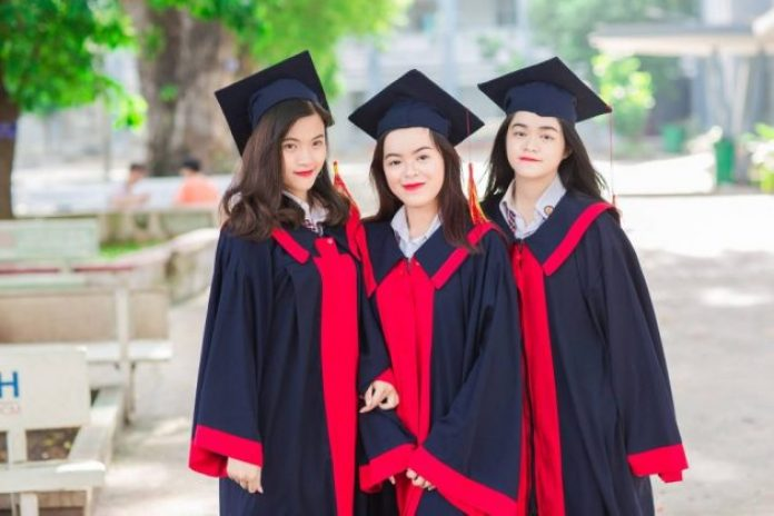 These females are graduating abroad