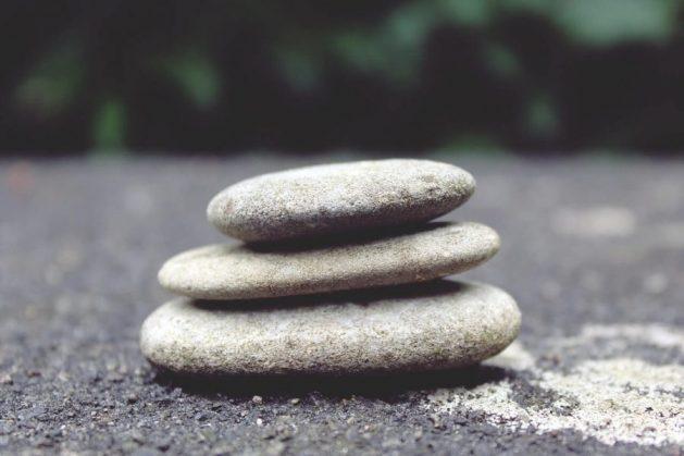 Balancing life is like balancing these stones
