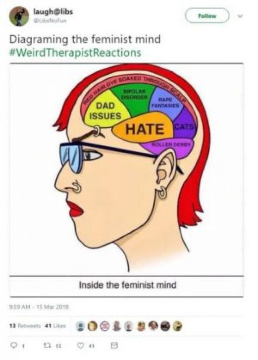 Women as man-haters? Not all of us.