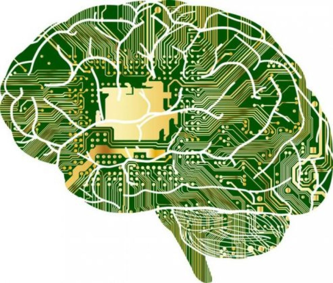 The circuitry of the brain, shown in green, yellow and white