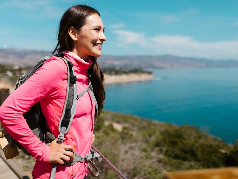 Getting fit in fall by hiking