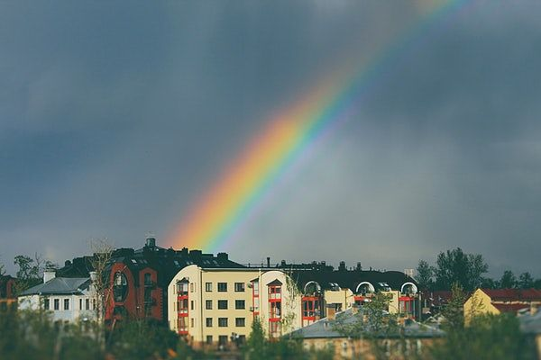 rainbow in sky symbolizing when you break bad habits