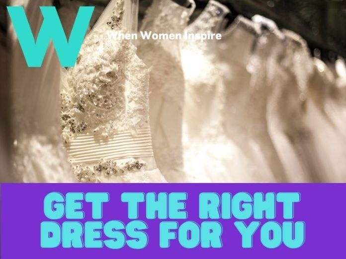 Wedding dress for muscular build