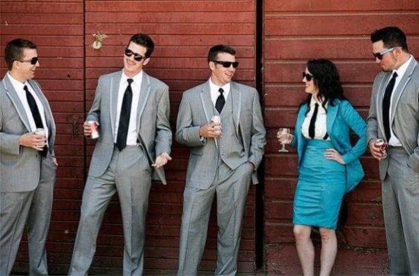 她是蓝色婚礼的佼佼者