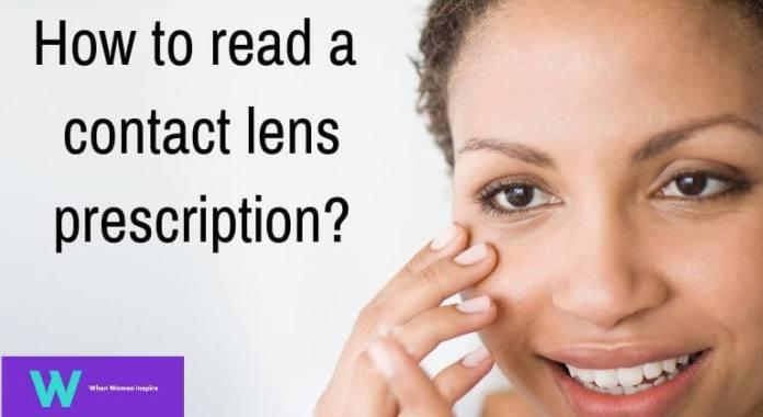 how to read a contact lens prescription