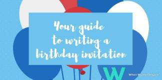 Writing a birthday invitation