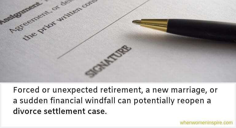 changing divorce settlement agreement