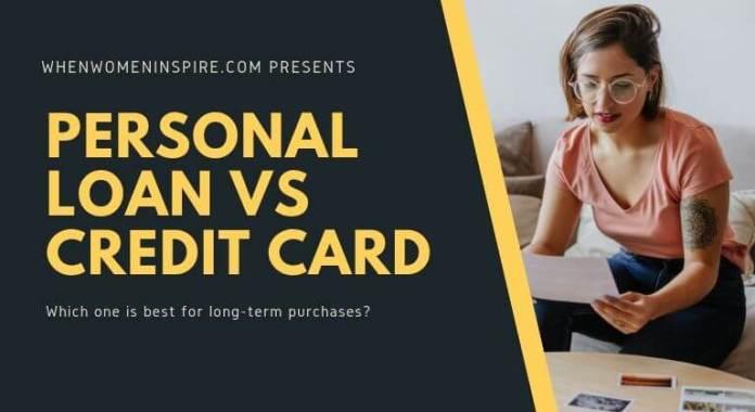 personal loan vs credit card