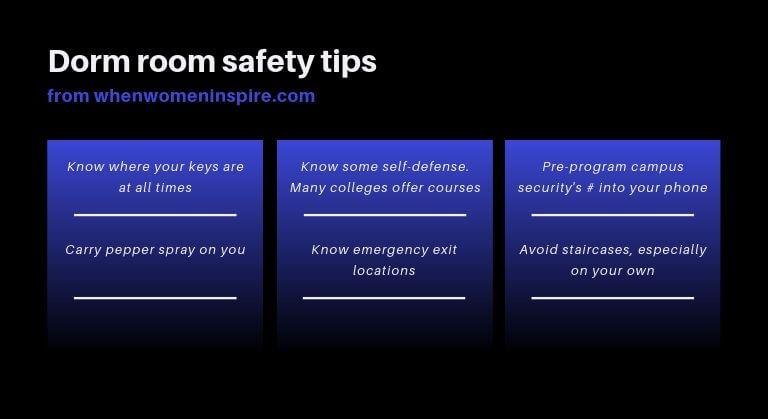Dorm room safety tips