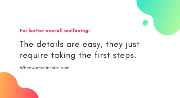 Improve your wellbeing quote