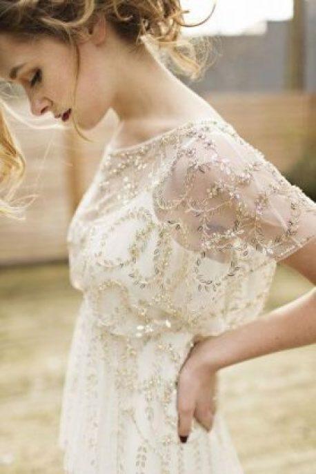 Metallic wedding gown bridal style