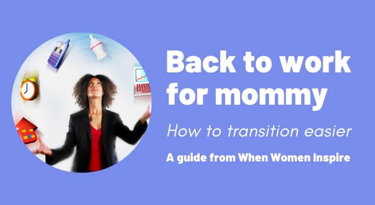 Planifier un retour au travail progressive après un congé de maternité