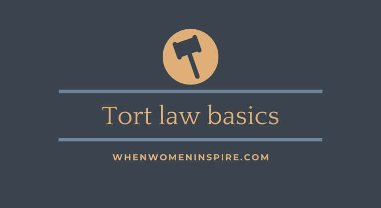 Principes de base du droit délictueux