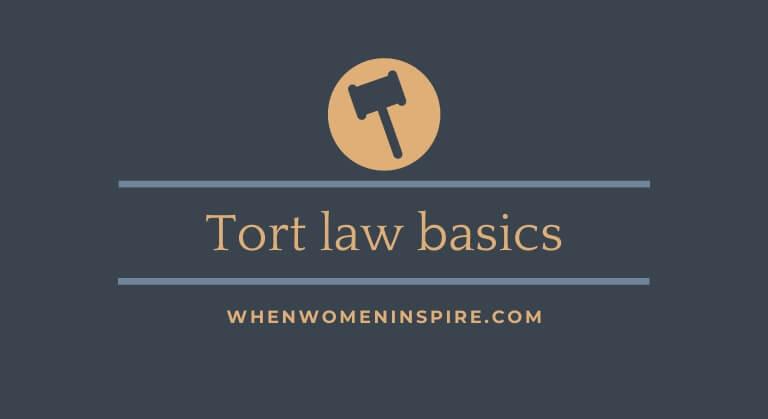 Tort law basics