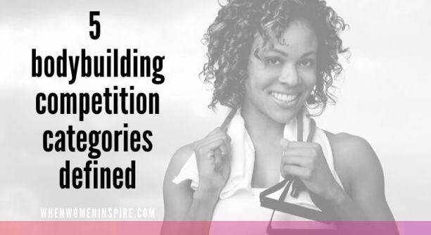concours de musculation catégories femmes