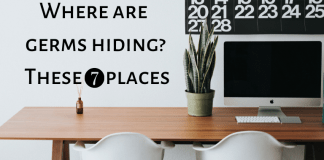 Office germs in 7 places