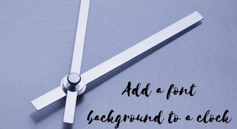 DIY clock present for parents