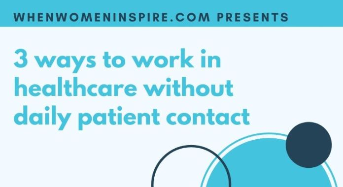 Medical jobs with no patient contact