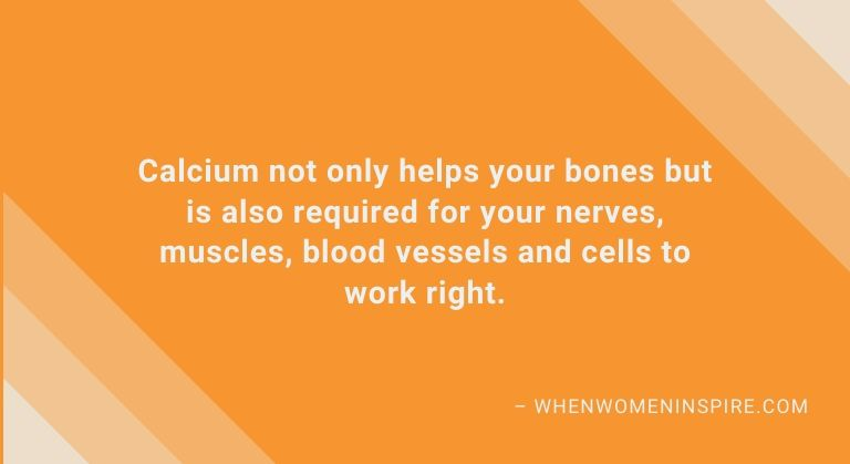 Supplements like calcium benefits