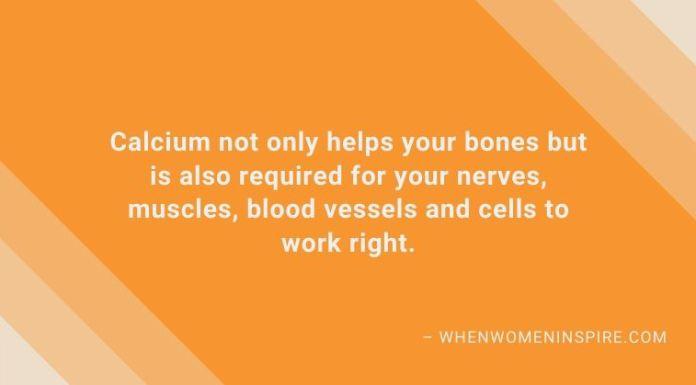 Supplements like calcium benefits