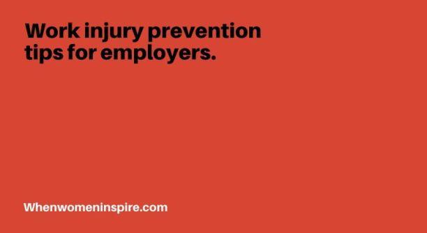 工伤预防提示