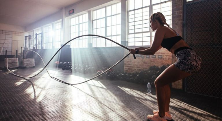Best athlete training in gym
