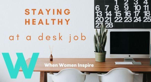 办公桌工作健康提示