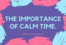 Temps calme pour le soi