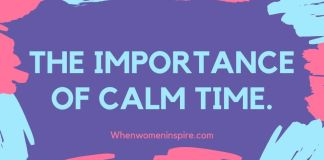 Calm time for the self