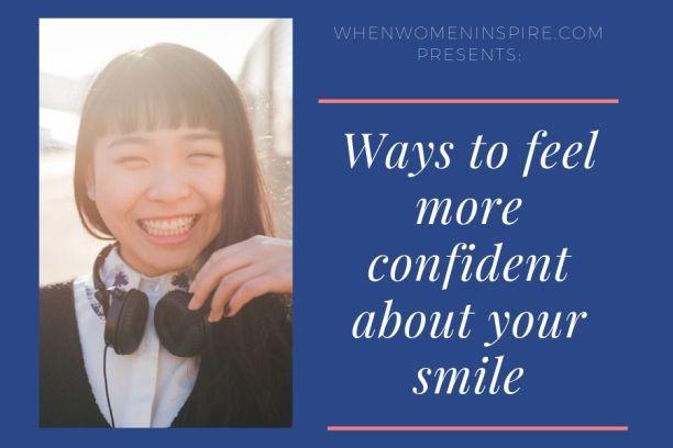 Sourire plus confiant comme elle