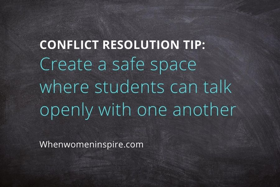 Ways to deal with conflict