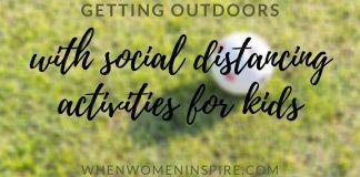 Kids social distancing activities like playing ball