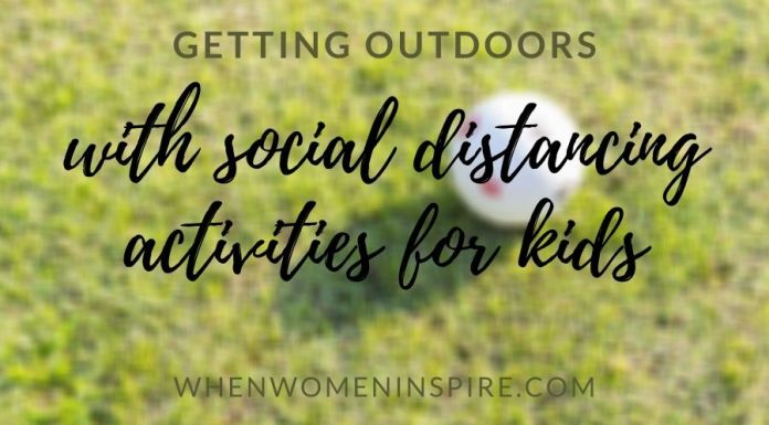 Kids social distancing activities like playing ball