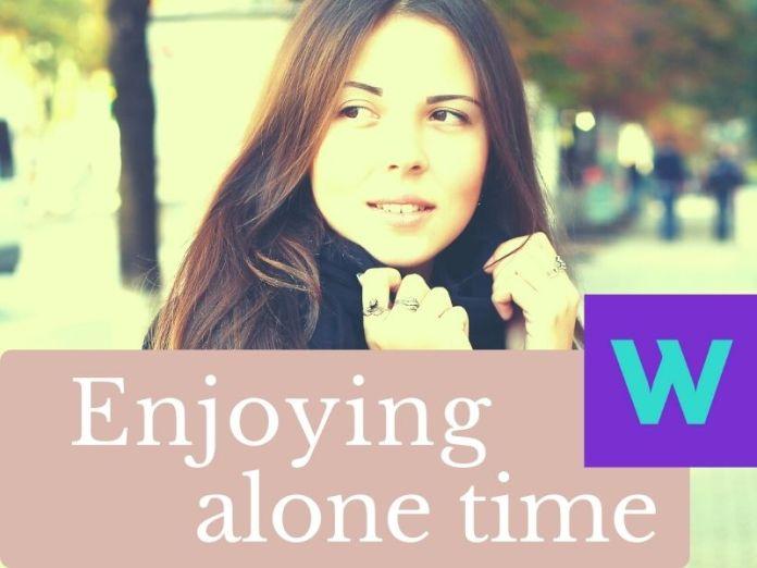 Enjoying alone time