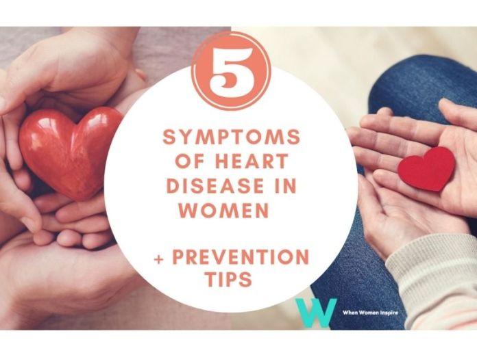 symptoms of heart disease in women