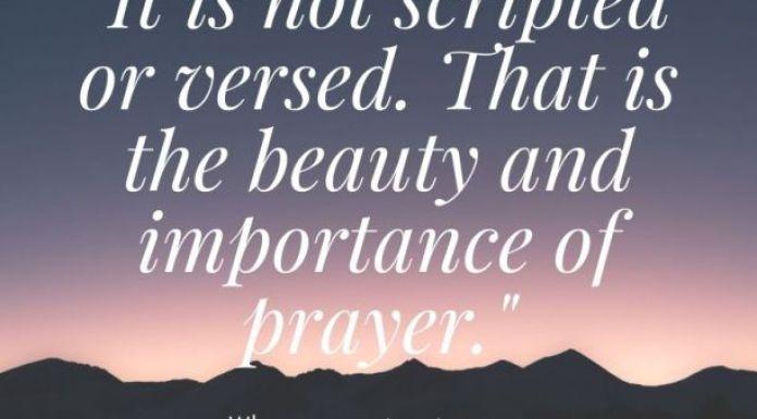 Importance of prayer