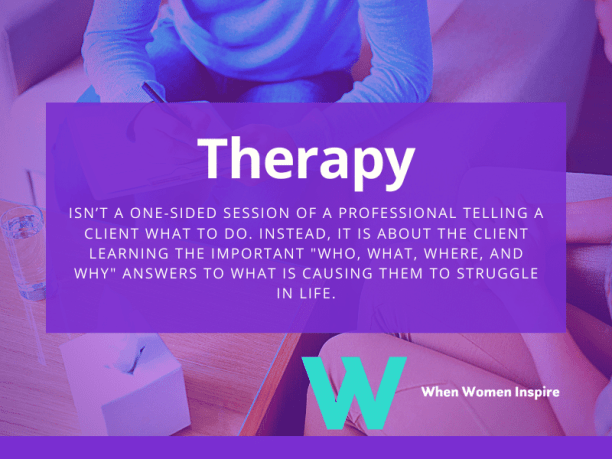 Being a therapist