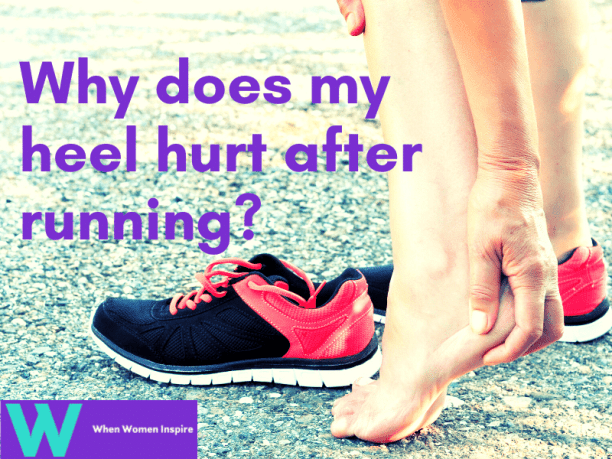 Back of heel pain after running
