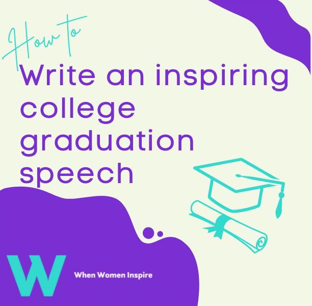 College graduation speech